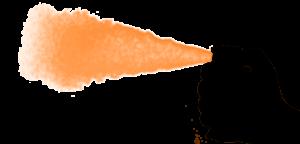 Darstellung der Sprühart Nebelspray